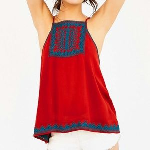 NWOT Ecote embroidered Bali tie back tank top